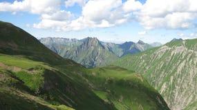 Paesaggio della montagna di Hoefats nelle alpi di Allgau, Oberstdorf, Germania Fotografia Stock