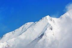Paesaggio della montagna di Hotaka allo shinhotaka, alpi del Giappone nell'inverno Fotografie Stock Libere da Diritti