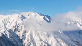 Paesaggio della montagna di Hotaka allo shinhotaka, alpi del Giappone nell'inverno Immagine Stock