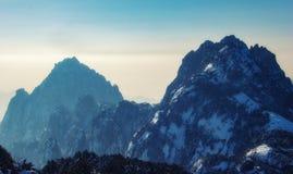Paesaggio della montagna di Huangshan nella provincia di Anhui, Cina immagini stock libere da diritti