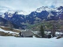 Paesaggio della montagna di inverno Fotografia Stock