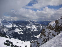 Paesaggio della montagna di inverno in Austria Immagini Stock Libere da Diritti