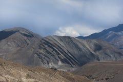 Paesaggio della montagna di Ladakh Fotografia Stock
