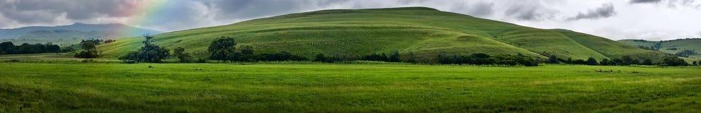 Paesaggio della montagna di panorama Fotografie Stock