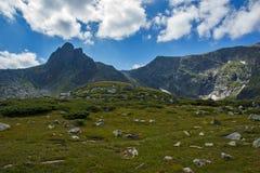 Paesaggio della montagna di Rila vicino, i sette laghi Rila, Bulgaria Fotografie Stock Libere da Diritti