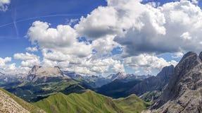 Paesaggio della montagna di Schlern nel Tirolo del sud Immagine Stock