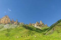 Paesaggio della montagna di Schlern nel Tirolo del sud Fotografia Stock