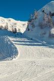 Paesaggio della montagna di Snowy con Julian Alps Fotografia Stock Libera da Diritti