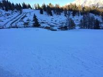 Paesaggio della montagna di Snowy in vipiteno in negativo per la stampa di cartamoneta Adige di trentino Fotografia Stock