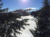 Paesaggio della montagna di Snowy in vipiteno in negativo per la stampa di cartamoneta Adige di trentino Immagine Stock