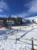 Paesaggio della montagna di Snowy in vipiteno in negativo per la stampa di cartamoneta Adige di trentino Fotografia Stock Libera da Diritti
