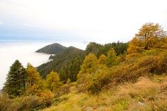 Paesaggio della montagna di Taibai Fotografia Stock