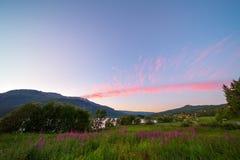 Paesaggio della montagna di Vang, Norvegia Fotografia Stock