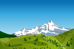 Paesaggio della montagna di vettore Immagini Stock