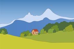 Paesaggio della montagna di vettore Fotografia Stock Libera da Diritti