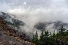 Paesaggio della montagna dopo la pioggia Tatry Fotografie Stock
