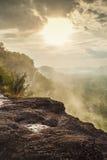 Paesaggio della montagna durante l'alba Immagine Stock Libera da Diritti