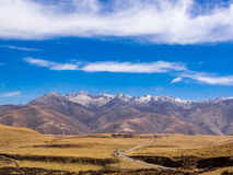 Paesaggio della montagna e della valle della neve in Sichuan Fotografia Stock Libera da Diritti