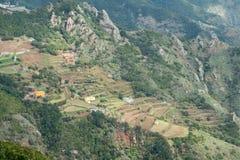 Paesaggio della montagna ed agricoltura a terrazze Fotografia Stock