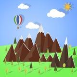 Paesaggio della montagna fatto con carta Fotografie Stock Libere da Diritti