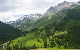 Paesaggio della montagna in Francia Fotografie Stock