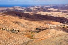 Paesaggio della montagna a Fuerteventura Fotografia Stock