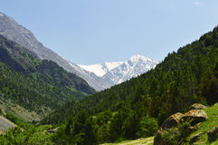 Paesaggio della montagna, gola di Galuyan, Kirghizistan Fotografie Stock Libere da Diritti