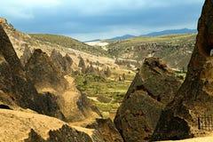 Paesaggio della montagna, Goreme, Cappadocia, Turchia Fotografia Stock Libera da Diritti