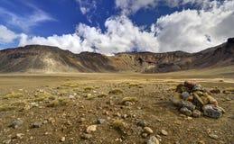 Paesaggio della montagna, incrocio alpino di Tongariro Fotografia Stock