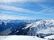 Paesaggio della montagna in inverno Fotografia Stock