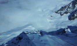 Paesaggio della montagna in inverno Fotografie Stock