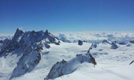 Paesaggio della montagna in inverno Fotografie Stock Libere da Diritti