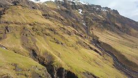Paesaggio della montagna in Islanda stock footage