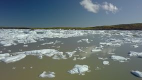 Paesaggio della montagna in Islanda archivi video