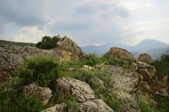 Paesaggio della montagna, Kirghizistan Fotografie Stock Libere da Diritti