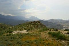Paesaggio della montagna, Kirghizistan Immagine Stock