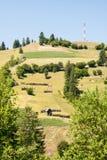 Paesaggio della montagna in Maramures Immagini Stock Libere da Diritti