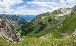 Paesaggio della montagna a Nebelhorn, alpi di Allgäu Fotografie Stock
