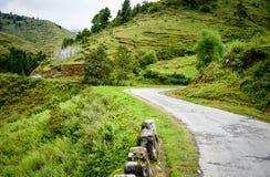 Paesaggio della montagna nel Bhutan Fotografie Stock