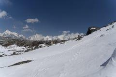 Paesaggio della montagna nel Nepal Fotografie Stock Libere da Diritti