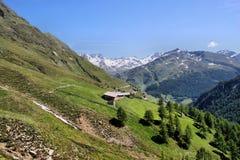 Paesaggio della montagna nel Tirolo del sud, Italia Fotografie Stock Libere da Diritti
