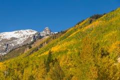Paesaggio della montagna nella caduta Immagini Stock Libere da Diritti