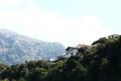 Paesaggio della montagna nella foschia Immagini Stock