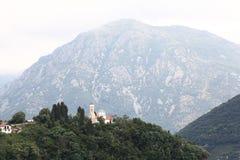 Paesaggio della montagna nella foschia Fotografie Stock