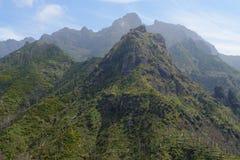 Paesaggio della montagna nella regione di Serra de Agua sull'isola del Madera, Portogallo Immagini Stock Libere da Diritti