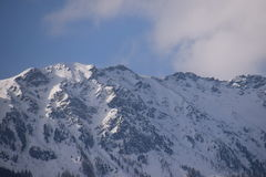 Paesaggio della montagna nelle alpi Immagini Stock Libere da Diritti