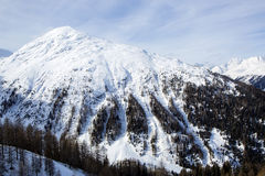Paesaggio della montagna nelle alpi austriache Immagini Stock Libere da Diritti