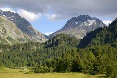 Paesaggio della montagna nelle alpi della Svizzera Fotografie Stock Libere da Diritti