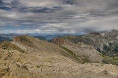 Paesaggio della montagna nelle dolomia Fotografie Stock