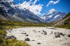 Paesaggio della montagna, Nuova Zelanda fotografie stock